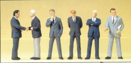 6 stehend Geschäftsleute im Anzug