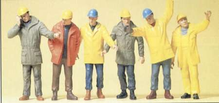 6 stehend Ingenieure und Bauleiter
