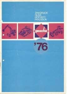 Gescha Farbkatalog 1976, DIN A4, 14-seitig, 36 Abb.   (z. B. AB 1302 C, Terex Radlader, Krupp Autokran usw.) (Farb Kopie)