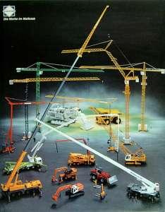 Werbetafel Baufahrzeuge von Conrad ca. aus dem Jahre 2000 aus Pappe