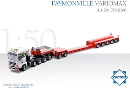 TGX 10x4 mit  Variomax Faymonville Tiefbettauflieger 7achs