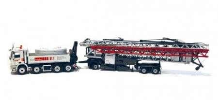 Benz 4151 K Actros mit Liebherr Schnelleinsatzkran 81 K