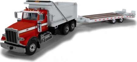 Model 367 Dump Truck with Beavertail Trailer