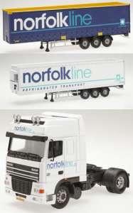 Set mit Kühlauflieger und einem Planenauflieger -Norfolkline-