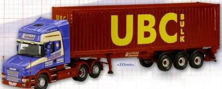T Topline Skeletal Trailer & Containrt -Blumers Logistics- l-