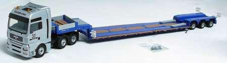 TGA Zugmaschnine 3achs mit 3-Achs STZ-VL3, vorne abfahrbarer Schwanenhals, einfach ausziehbar, Verlängerungsträger