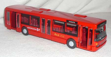 Stadt Omnicity Omnibus Farbe rot -Metropolitan -Red Line-