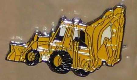 Baggerlader als Ansteck Pin