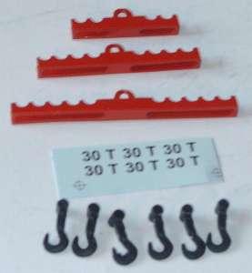Krantraversen Set klein mit 6 Haken Farbe rot