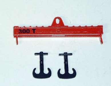 Krantraverse 100mm, 300 tonnen Traglast mit 2 Haken