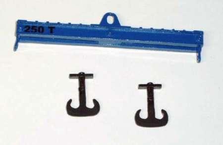 Krantraverse 120mm, 250 tonnen Traglast mit 2 Haken in blau