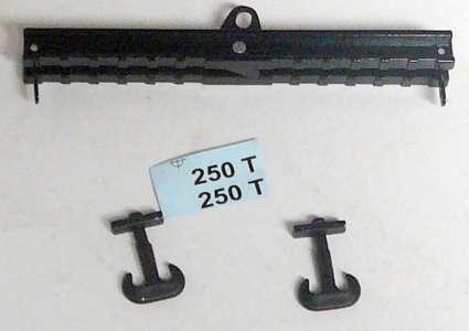 Krantraverse 120mm, 250 tonnen Traglast mit 2 Haken in schwarz