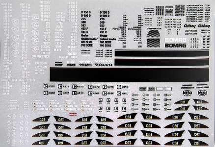 Cat 325, 980 G, 140 H, 325 C, Caterpillar Diesel, Cat D 7, Bomag, Volvo, Meiller Kipper, Magnum, Hyster, Scania, Zeppelin, C...