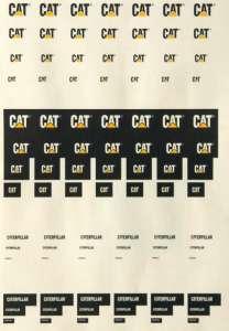 Cat -92 Stück- schwarz-gelb für