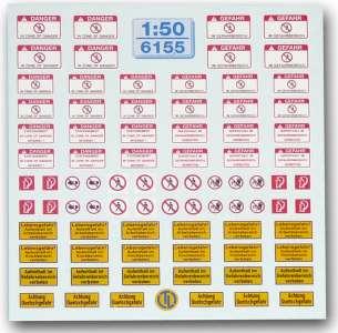Hinweis-Schilder Warn-Schilder für Baumaschinen