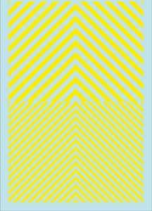 Streifen (90 x140 mm) gelb Tagesleuchtfarbe