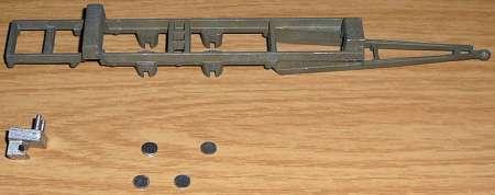 mit Anhängedeichsel und 4 felsplaatjes 6,3mm bausatz / kit