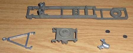 mit Anhängedeichsel, triangel, koppeling und 4 felsplaatjes 6,3mm bausatz / kit