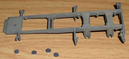 für 2achs Containerauflieger 20ft und 4 felsplaatjes 5,8 mm bausatz / kit