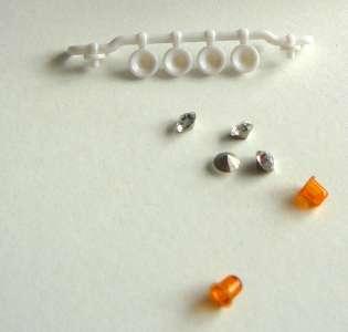 Scheinwerferbügel 4er mit zwei orange Lichtern Tekno