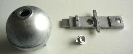 cement bol voor verbouwing, bijv. motorwagen met 1 bol of aanhanger met 3 bollen
