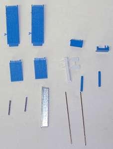 Rampen für Satteltieflader als Bausatz  (Farbe van der Meiden blau)