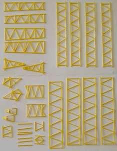 Hauptmast (CC oder TC 2000) einzeln Farbe gelb Baustz/Kit