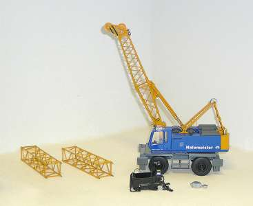 954 Mobil mit 843 Gittermast und Schleppschaufel  (Eigenbau/Self-'s building) Einzelstück