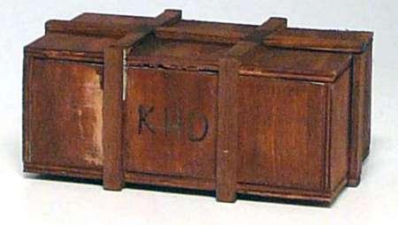 Holzkiste als Ladegut mit der Aufschrift -KHD- Eigenbau/Self-'s building) Einzelstück