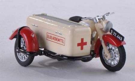 SG 250 mit Steib-Lastenbeiwagen Österreichisches Rotes Kreuz