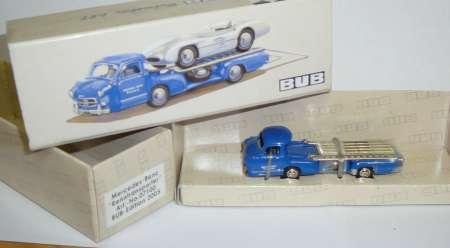 Benz Renntransporter Farbe blau