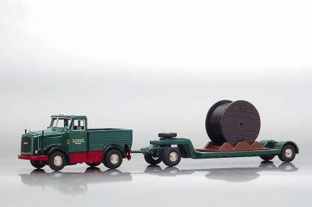 KDV Schwerlastzugmaschine mit und Kabeltrommel Werbung   -B.Aumann-