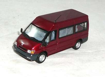 Transit 2000 mit Fenster rot-metallic