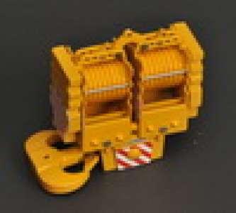 18 sheaves Yellow/Red/White 450 ton