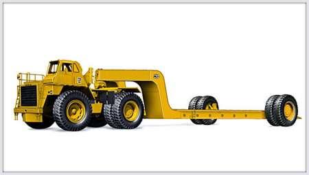 776 Off-Highway Tractor with Mega MET-185 Trailer