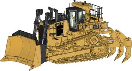 D10T2 Dozer with Ripper
