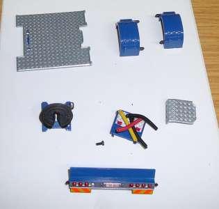 Kotflügel, Sattelplatte, Rücklichtbalken, Riffelblech und Hydraulickschleuche