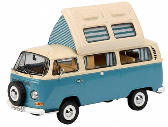 vw bus 1 43 t2 westfalia campingbus dickie schuco 03226. Black Bedroom Furniture Sets. Home Design Ideas