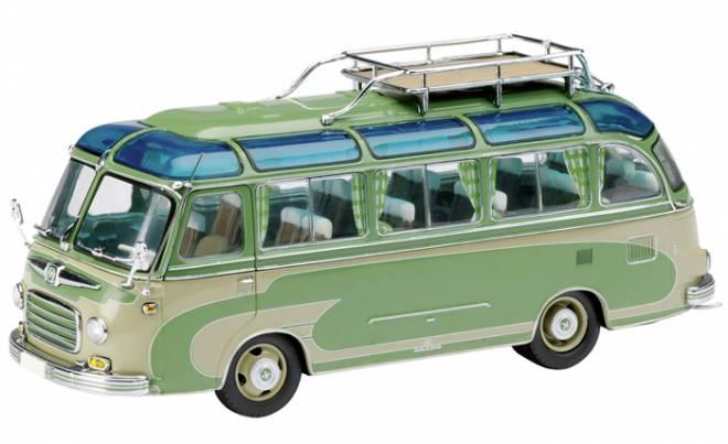 setra bus 1 43 s6 in gr n grau dickie schuco. Black Bedroom Furniture Sets. Home Design Ideas