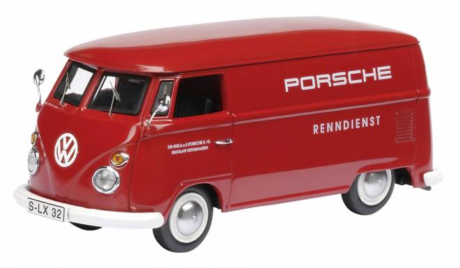 vw bus 1 43 t1 porsche renndienst dickie schuco. Black Bedroom Furniture Sets. Home Design Ideas