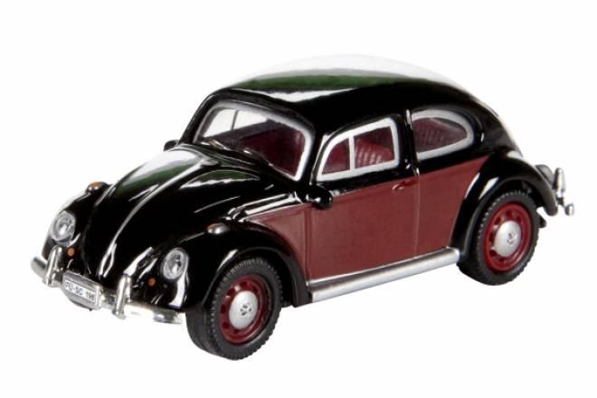 model dickie schuco vw k fer schwarz rot beetle 1 87. Black Bedroom Furniture Sets. Home Design Ideas