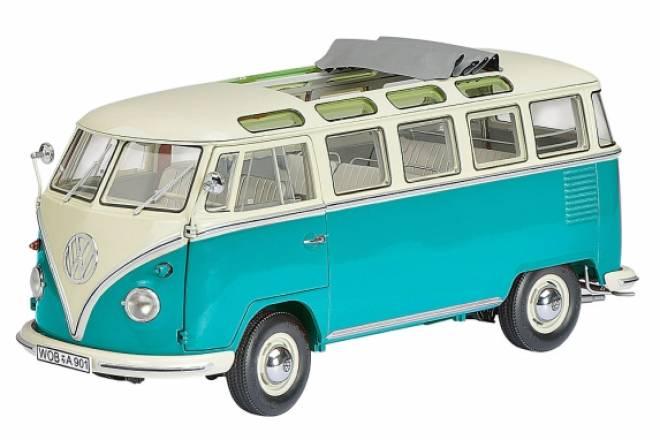 vw bus: t1 samba dickie-schuco 450028200, 1:18