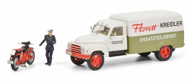 L28  Kreidler  mit Kreidler Florett und Fahrerfigur