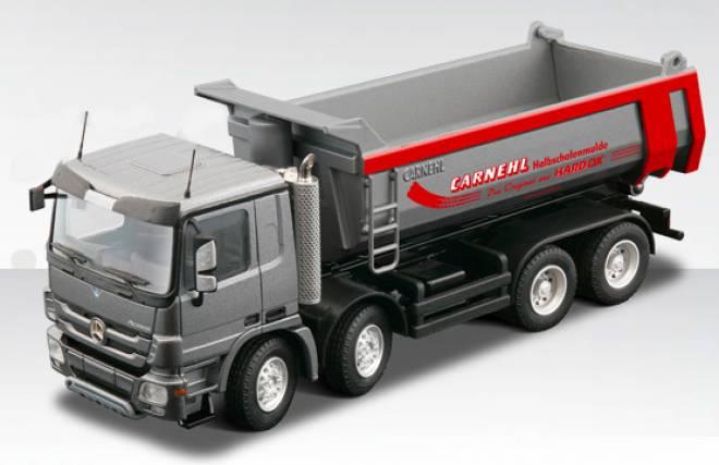 1 50 mercedes benz actros 4achs mit halbschalenmulde dump for Mercedes benz dump truck