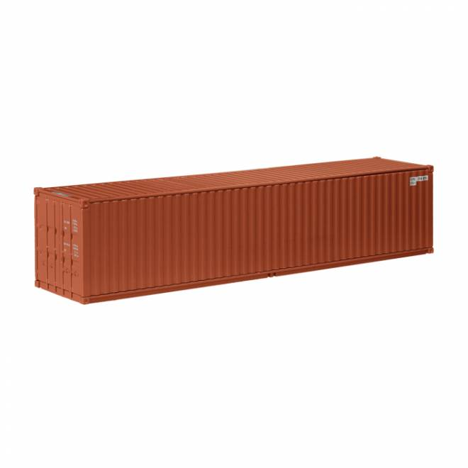 modell nzg auflieger 40 fu see container rotbraun seecontainer 1 50. Black Bedroom Furniture Sets. Home Design Ideas