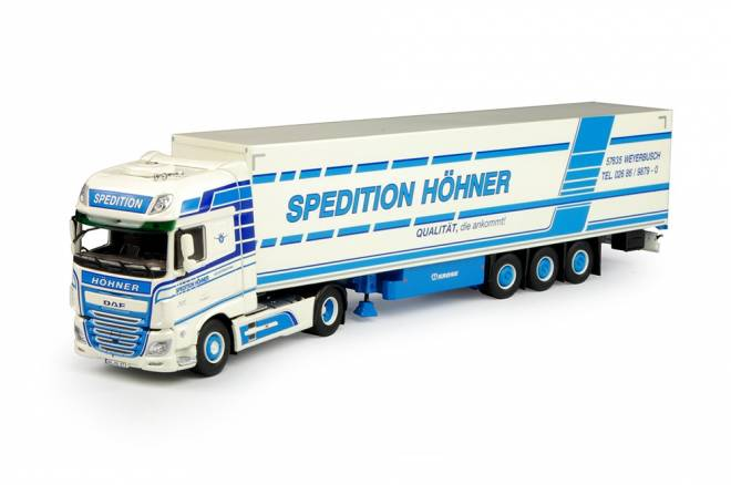 Euro 6 XF Super Space Cab with box semitrailer