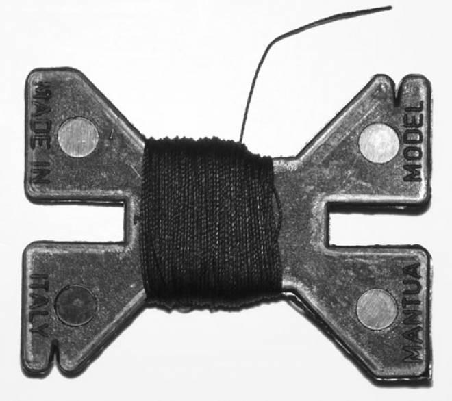 Kranseil 0,25 mm stark schwarz 10 m länge