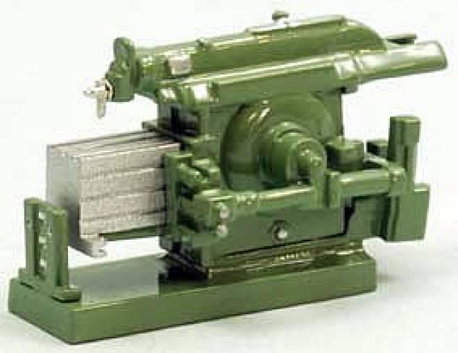 Stoßmaschine - Shaper Fertigmodell/ready made grün/green
