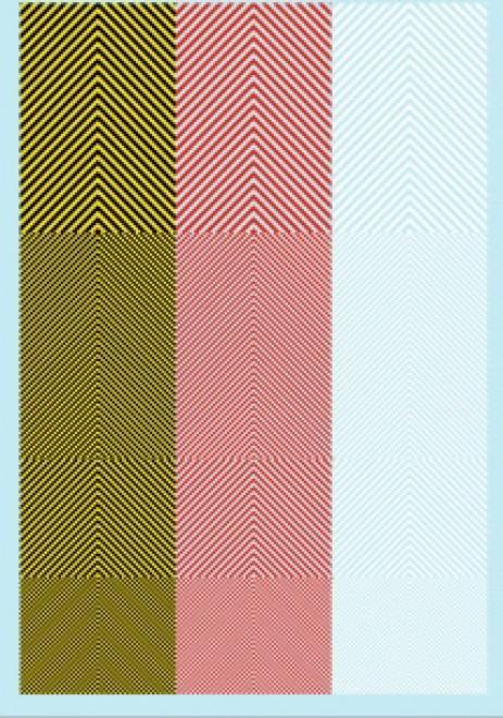 Streifen (90 x140 mm) gelb/ Schwarz/ rot /weiss