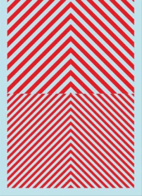 Streifen  (90 x140 mm) weiß-rot